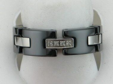Black Ceramic And Steel Flex Ring