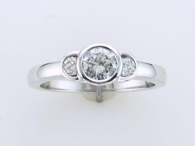Diamond Trinity Engagement Ring