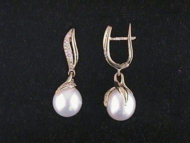 14kt .33ctw Pearl Drop Earrings
