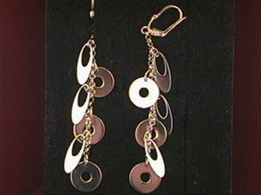 Circles & Ovals Dangle Earrings