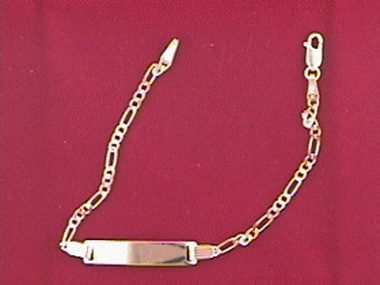 14kt Id Bracelet 6 Inch