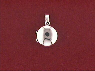 Round Silver Locket