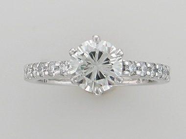 Platinum Birks Engagement Ring