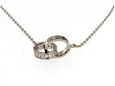 Interlocking Wedding Band Necklace