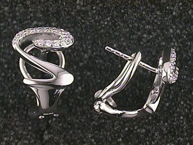 .15ctw Fancy Diamond Earrings