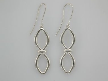 Eternity Link Drop Earrings