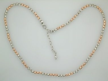White & Pink Moon Necklace
