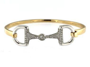 Diamond Snaffle Bit Bracelet