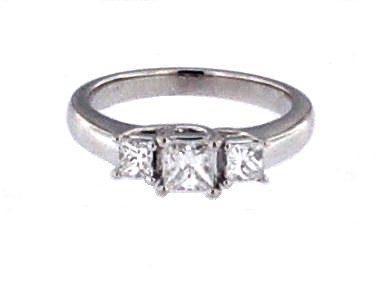 0.81 ctw Princess Trinity Ring