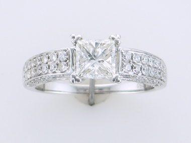 1.03ct Princess Engagement Ring