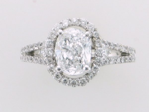 Oval Halo Style Diamond Ring