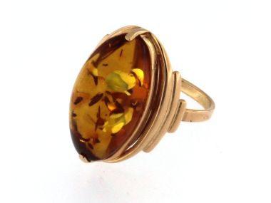 14KT Amber Ring