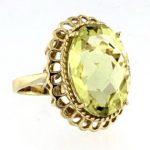 10KT Lime Quartz Ring