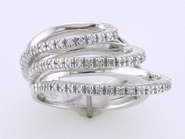 18kw .39ctw Custom Fashion Ring