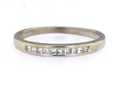 14KT Princess Cut Diamond Band