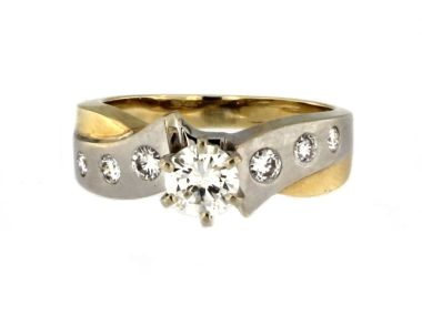 14KT 0.89ctw Diamond Ring