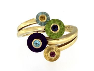 Mixed Coloured Stone Ring