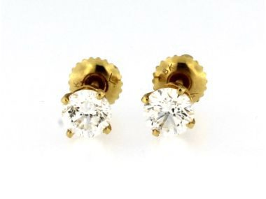 1.28 ctw Diamond Stud Earrings