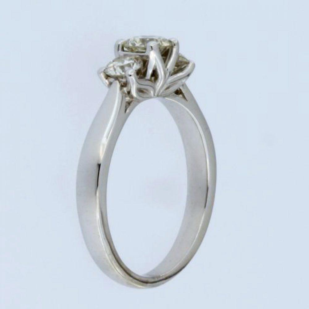 0.84 ctw Trinity Ring