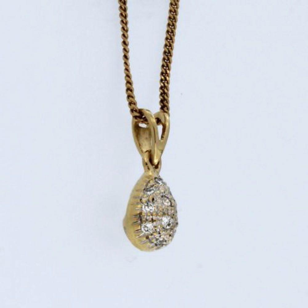 10KT Diamond Pendant