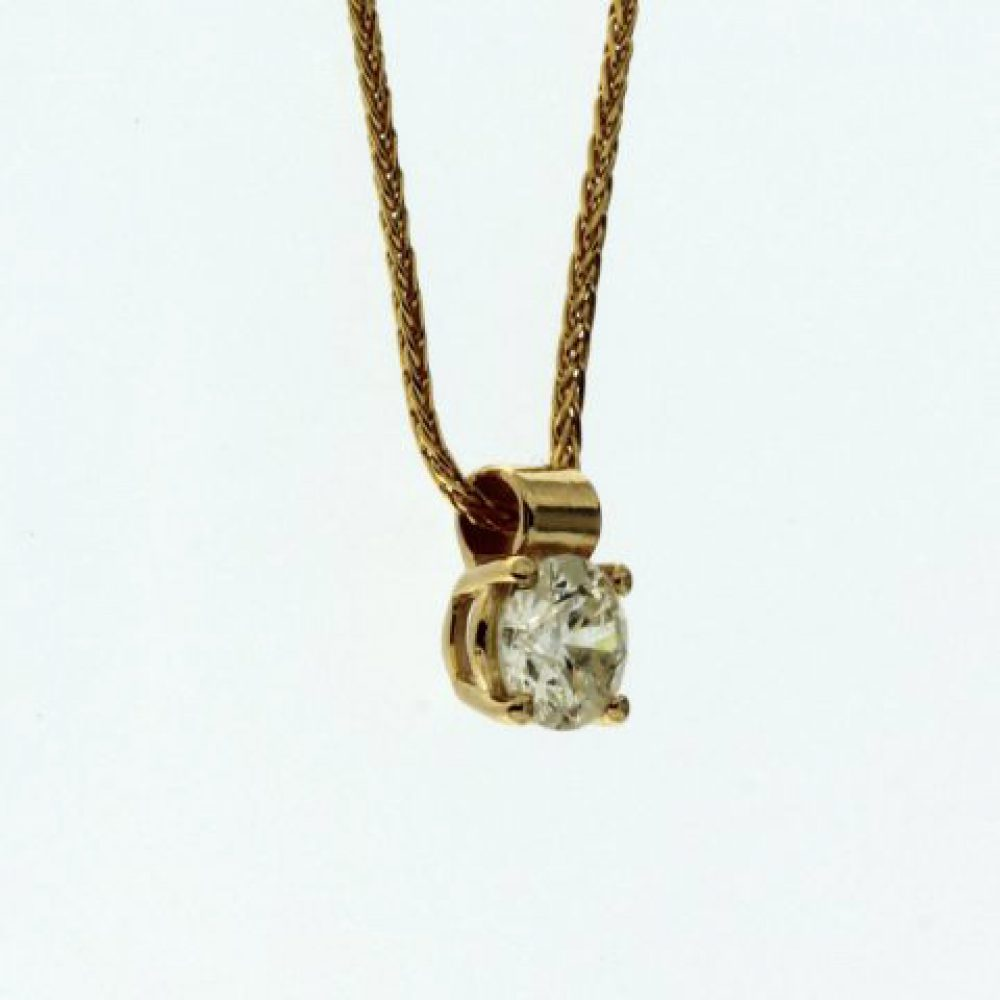 0.70 ct Diamond Solitaire Pendant