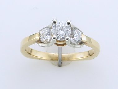 14kyw Trinity Dia Engagement Ring
