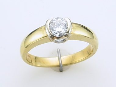 18kyw .73ctw Bez. Engagement Ring