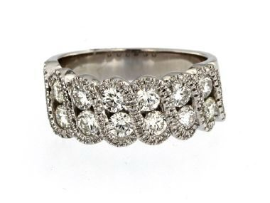 1.34 ctw Fancy Diamond Band