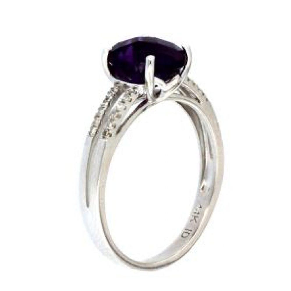 Amethyst & Diamond Ring