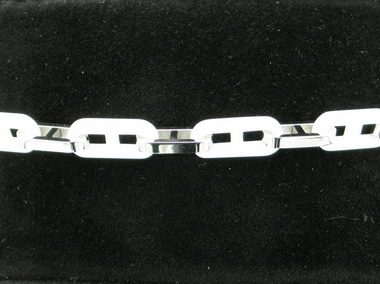 White Ceramic And Steel Bracelet