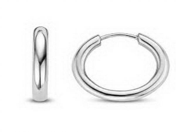 Large Silver Hoop Earrings
