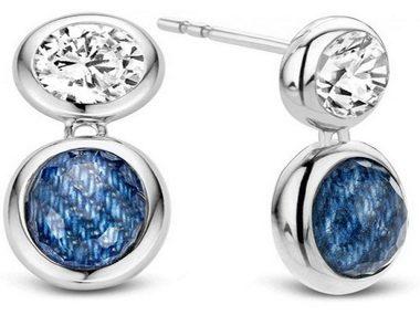 Cubic and Denim Crystal Earrings