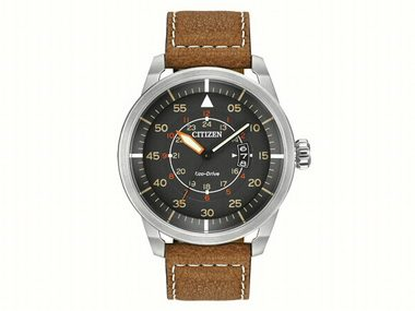 Gents Brown Avion Eco-Drive