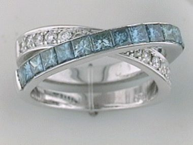 Blue Dia. Crossover 2.10ct 18kt