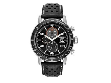 Black Chronograph Eco-Drive