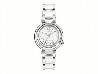 Ladies Eco Drive with Diamonds