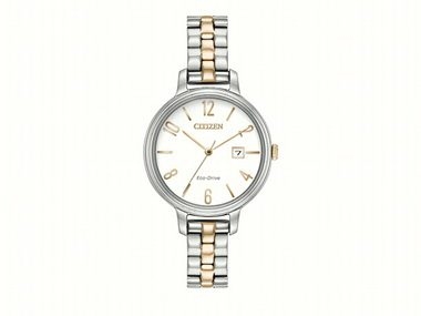Ladies Two Tone Eco Drive