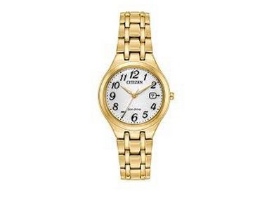 Ladies Goldtone Eco-Drive