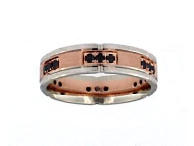 10KT White and Red Gold Band
