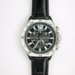 Gents Black Chronograph Watch