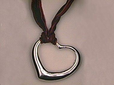 Heart Pendant With Ribbon