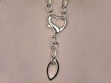 Silver Necklace With Heart Clasp