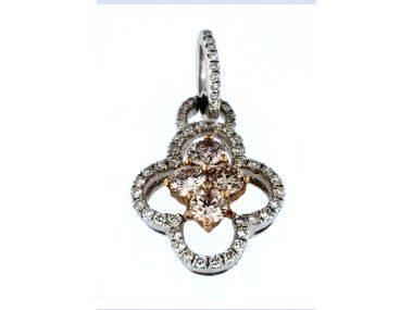 Pink & White Diamond Pendant