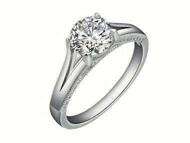 Cubic Solitaire Engagement Ring