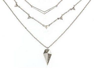 Stiletto Triple Strand Necklace