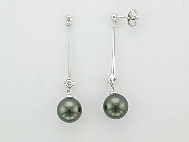 18KT Tahitian Pearl Earrings