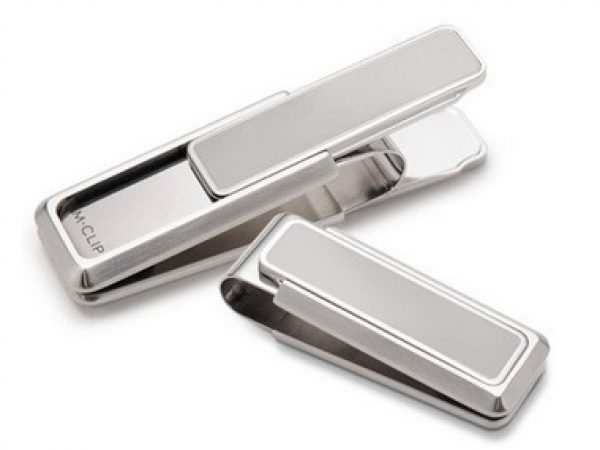 Money Clip With Polished Border Slides