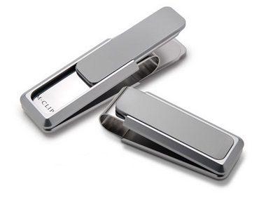 Natural Aluminium Money Clip