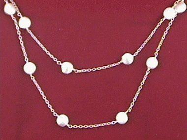 48 Inch Silver Smartie Necklace