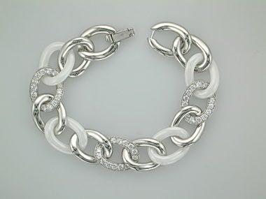 C Z White & Silver Bracelet